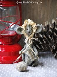 Christmas Mice Decorations 375 Best Prim Mice Images On Pinterest Needle Felting Felted