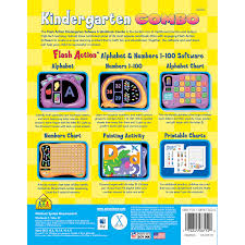 kindergarten flash action software u0026 workbook combo offers many