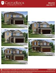 brazos cobalt home plan by castlerock communities in goose creek