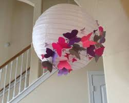 Precious Moments Baby Shower Decorations Baby Shower White Paper Lantern And Colorful Butterfly Decorations