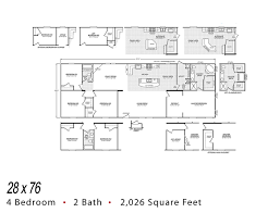 4 Bedroom Double Wide Fleetwood Homes 28 76 Double Wide Affordable Manufactured Homes Inc