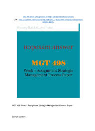 sample process essays mgt 498 week 1 assignment strategic management process paper 2015 ver