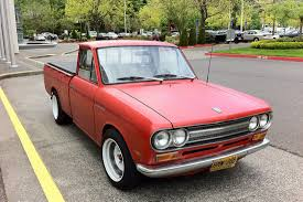 datsun pickup old parked cars 1969 datsun 1600 pickup