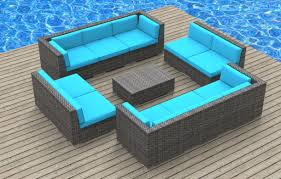 fascinating blue deck furniture with unique design of outdoor