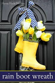 How To Make A Spring Wreath by Rain Boot Wreath Rain Boot Rain And Wreaths