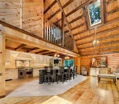 Cabin Kitchen Designs Kitchen Log Cabin Kitchens With Modern And Rustic Style