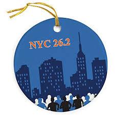 nyc 26 2 marathon ornament running porcelain