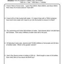 Thanksgiving Worksheets For 3rd Grade Capacity Worksheets Have Fun Teaching
