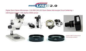 best led ring light best sale 5 0m digital zoom stereo microscope3 5x 90x 144 led ring