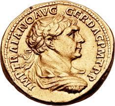 aureus traianus cos v p p s p q r optimo princ rome ancient