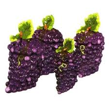 grape kitchen canisters grapes 3 d canister set of 4 canisters grape vine new by kmc kk