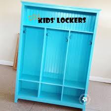diy kids lockers make your own storage lockers for kids diy storage