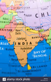 India On A Map Close Up Of India On A Globe Stock Photo Royalty Free Image