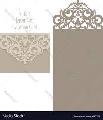 Laser Cut Invitation Cards Laser Cut Envelope Template For Invitation Vector Image
