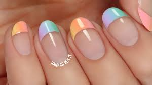 pastel gradient french tip manicure youtube