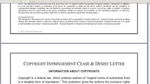 Legal Cease And Desist Letter by Copyright Infringement Cease U0026 Desist Letter Youtube