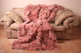 light pink fur blanket light pink fox fur blanket throw bed sofa comfort softness best gift