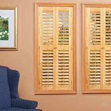 Wooden Interior Wood Shutters Plantation Shutters The Home Depot