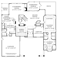 dimensioned floor plan country style house plan 4 beds 3 5 baths 3736 sq ft plan 453