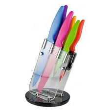 coloured kitchen knives set buy taylors eye witness coloured revolving knife set from our