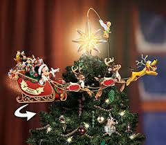 disney illuminated rotating tree topper mickey fix