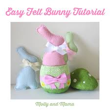 make an easy felt bunny molly and mama