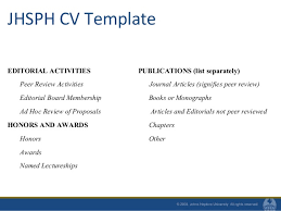 Honors And Activities For Resume Resumes And Cvs For Mph Students Fall 2010