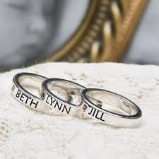 mothers day rings style stackable name rings for