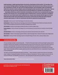 cambridge handbook of psychology health and medicine amazon co