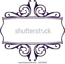ornamental clipart scrollwork pencil and in color ornamental