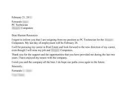 resignation letter format how to make a letter of resignation