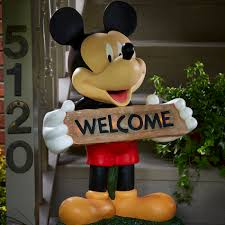 disney mickey large solar door greeter limited availability