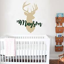 Personalized Nursery Decor Personalized Deer Antlers Name Wall Decal