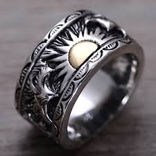 silver band men s sterling silver sun band ring jewelry1000