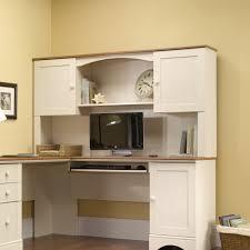 corner desk with hutch and locking drawers u2014 the clayton design