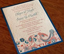 indian wedding invitation designs new wedding invitation design tanvi letterpress indian wedding