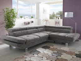 canapé d angle gris canapé d angle gris chiné en tissu vincenzio canapé d angles