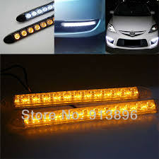 use of amber lights on vehicles 2x 12 led flexible light strip with turning yellow amber light auto
