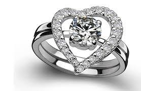 cheap heart rings images Buy 0 5ct heart set ring for women 925 sterling jpg