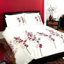 Cream Bedding And Curtains Red And Cream Cow Skull Duvet Bedding Sets Red And Cream Check