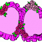 clipart hearts and flowers heart flowers with cute birds printable