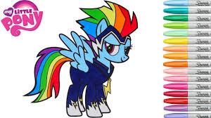 my little pony coloring book rainbow dash power ponies go zapp mlp