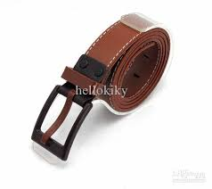 allergic to belt buckle korean mens coffee pu leather belt anti allergic buckle waistband