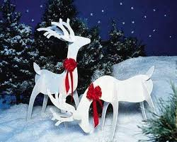 Outdoor Sleigh Decoration Lighted Outdoor Santa Sleigh And Reindeer Reindeer Decorations