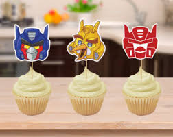 transformers rescue bots 1 edible cake or cupcake topper edible rescue bots cake etsy