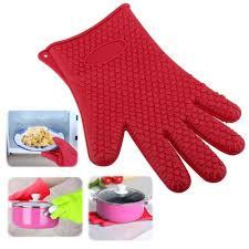 gant de cuisine anti chaleur insten 1 gant de cuisine en silicone résistant anti chaleur anti