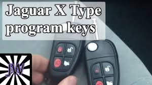 jaguar x type program remote key fob youtube