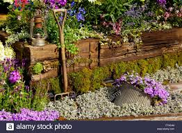 garden and flower show close up view of display garden at rhs tatton flower show near