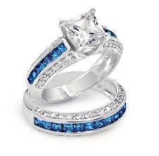 blue gem rings images 10k white gold filled blue sapphire gem simulated diamond ring jpg