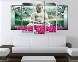 home colour selection panels font buddha wall art modern design of